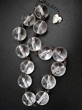 BETSEY JOHNSON VINTAGE LARGE CLEAR LUCITE BUBBLE BALL STATEMENT NECKLACE~RARE