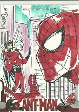 Upper Deck Marvel Ant-Man Hand Drawn Spider-Man Sketch Card by Gilbert Monsanto