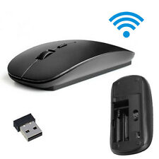 Slim 2.4 GHz Optical Wireless Mouse + Receiver For Laptop PC Mac Black A1 6.6