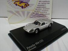 """Minichamps 877065720 # porsche 904 GTS année modèle 1965 dans """"argent métallique"""" 1:87"""
