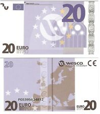 20 euro polymère wesco type 1 neuf unc educational test note billet