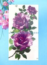 temporary tatto large rose flower temporary tattoo sticker