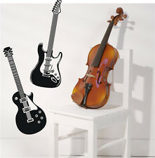 Rock Music Wall Stickers Decals Electric Guitar Home Decor Vinyl Art For Youth