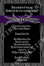 Halloween Party Nightmare before Christmas Birthday costume Invitation Jack