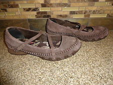 """Womens Merrell """"Carousel"""" Desert Sage Sz 38 US 7.5 Brown Leather Mary Jane Shoes"""