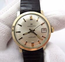 "HAMILTON,1960's,""Automatic Date/Just Dial"" Genuine Lizard Band MEN'S WATCH,1482"