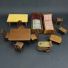Lot of Strombecker Playthings Walnut Dollhouse Furniture