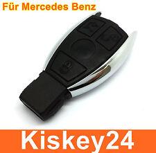 3Tasten boîtier clé pour Mercedes Benz W203 W204 Chrome réparer