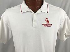 Nike Golf Canandaigua Football White Embroidered Polo Shirt 100% Cotton XL / XXL
