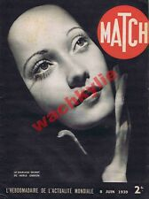 Match n°49 - 08/06/1939 Merle Oberon Suisse Dardannelles aviation école de Salon