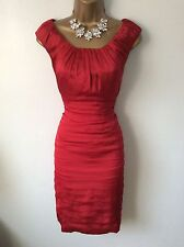 Coast Red Dress Size 12 Vgc