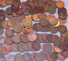 Great Britain UK One Penny and New Penny Mixed Dates Lot of 100 Coins Decimal