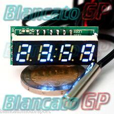 MICRO TERMOMETRO DIGITALE -30~70℃ LED BIANCO NTC termistore auto moto camper kfz