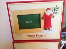 HALLMARK SANTA PICTURE FRAME FOR A 4 BY 6 PHOTO  BRAND NEW IN BOX