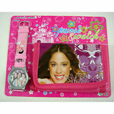 VIOLETTA Children's Wrist Watch & 3-Fold Coins Purse Wallet Set For Kids Girl