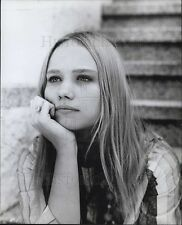 "1968 Press Photo of hippie girl Today Malone of ""The Revolution"""