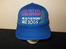 VTG-1980s Fire Hydrant Friends Dogs mooch freeload funny trucker joke hat sku28
