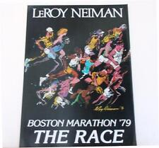 "Leroy Neiman LE Numbered Bookplate ""Boston Marathon 79"" Running Race Sports Art"