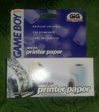 Game Boy PRINTER PAPER (3 rullini) Gig Carta Stampante Stampare - GameBoy - NEW