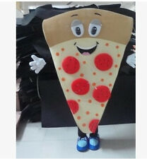 Pizza Mascot Costume Cartoon Fancy Adult Size Nice Looking for advertising