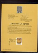 #3390 33c  Library of Congress USPS #0012 Souvenir Page