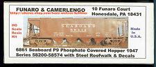 Funaro F&C 6861  SEABOARD AIR LINE  SAL  Phosphate Fertilizer  P9 Covered Hopper