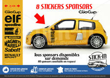 8 Stickers Autocollant Sponsors Renault Clio cup RS 172 182 Bilstein Sabelt elf