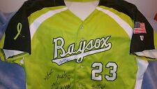 bowie baysox game used team signed jersey