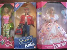 Mattel Barbie lot of 3 1998 Puzzle Craze/1995 Arizona Jean/1996 Birthday