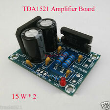 TDA1521 2CH Dual Channel Stereo Audio Amplifier AMP Board DIY Kits AC 12V 15W x2