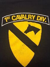 Vintage 1st Cavalry Division T-shirt Military Army Troops Soldiers