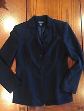 ANN TAYLOR WOMENS BLACK CAREER BLAZER JACKET SIZE 8