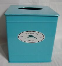 Tommy Bahama Home Relax Paradise Tissue Box Cover Aluminum Marlin Turquoise
