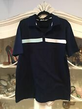 MENS CALVIN KLEIN CK GOLF POLO NAVY BLUE SIZE L