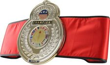 Old School Championship Title Belt Boxing MMA Kickboxing Muay Thai Award - Red