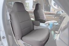 FORD F-250 350 2004-2010 GREY S.LEATHER CUSTOM MADE FIT FRONT SEAT COVER