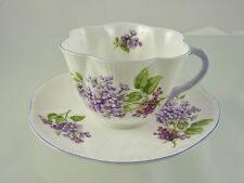 LILAC TIME DAINTY SHAPE 14293 CUP & SAUCER FOOTED BY SHELLEY ENGLAND