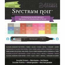 Crafters Companion SPECTRUM NOIR Set of 24 Alcohol based Pens LIGHTS Refillable