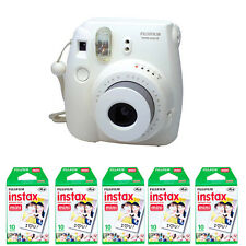 Fujifilm instax mini 8 White Instant (Polaroid) Film Camera + 50 Prints Film
