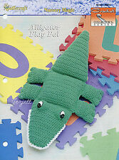 Alligator Play Pal ~ Huge Alligator Pillow Toy, Crochet Collector's pattern