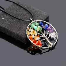 Reiki Natural Stone Tree Of Life Chips Beads Healing Chakra Pendant For Necklace