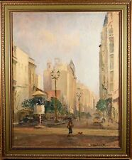 "Luis Gowland Moreno Original Oil Painting, ""Downtown Bueno Aires"" FINE & RARE!!"