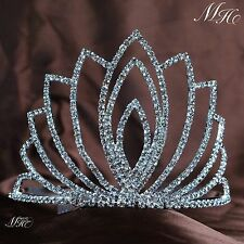 Simple Tiaras With Hair Combs Wedding Bridal Rhinestone Crowns Prom Brides Party