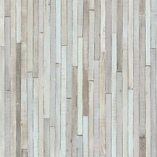 NEW RASCH PORTFOLIO WOODEN PANEL STRIPED BEACH CABIN WOOD MOTIF WALLPAPER 280418