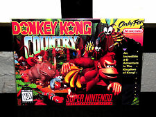 "Super Nintendo Snes  Donkey Kong Country   Box Cover  Photo Poster 8.5""x11"""