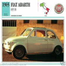 FIAT ABARTH 695 SS 1965 CAR  VOITURE ITALY ITALIE ITALIA CARTE CARD FICHE