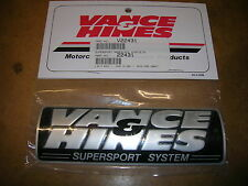 vance + hines super sport exhaust pipe name plate badge