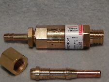 HHO & H2 FLASHBACK ARRESTOR & 3 INJECTOR TORCH NOZZLES KIT.MADE IN GERMANY.