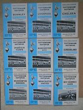 TWO Tottenham Home football programmes of your choice season 1969/70 Division1