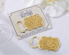 NEW Gold Glitter Bottle Opener Wedding Party Favors Stocking Stuffer Q35416